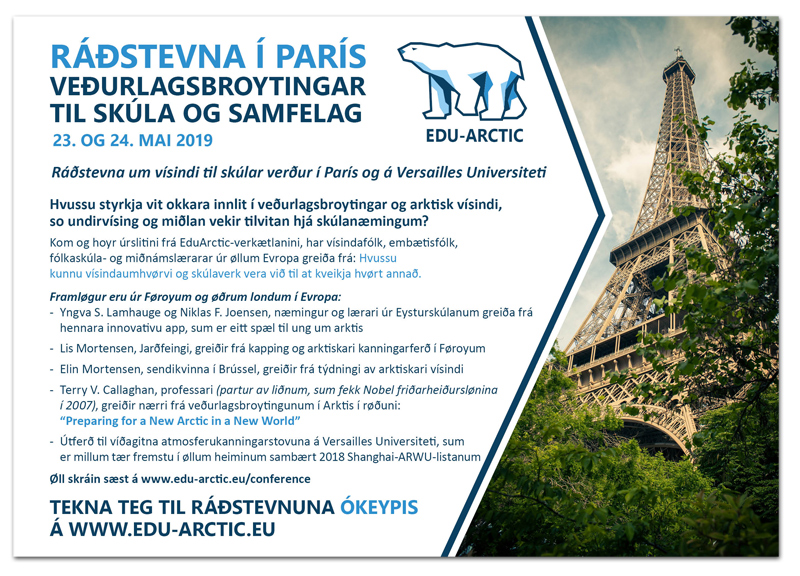 Final Conference of the Edu-Arctic project will be in Paris