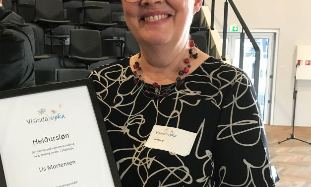 Lis Mortensen fekk ársins miðlaheiðursløn 2019
