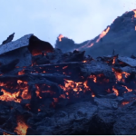 Uni Árting, jarðfrøðingur, greiðir stutt frá um eldgosið í Geldingardali í Íslandi